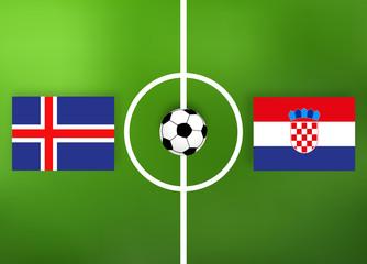 Fußball - Island gegen Kroatien