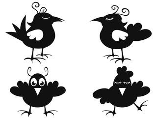 funny black bird icon