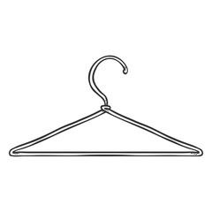 Vector Single Sketch Wardrobe Shoulder Hanger
