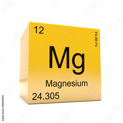 Magnesium Chemical Element Symbol From The Periodic Table Displayed