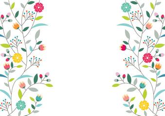 花のフレーム01