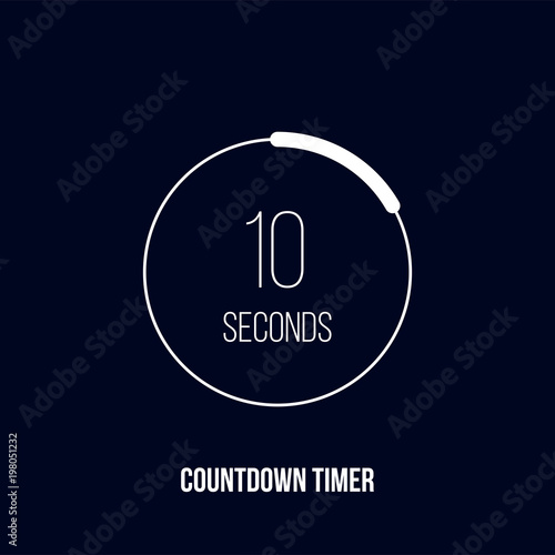 countdown timer or digital counter vector circle icon for smart