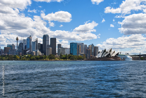 The city skyline of Sydney, Australia