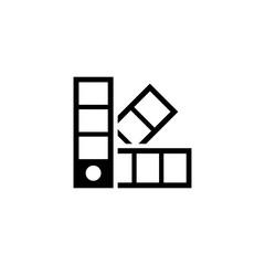 Palette Pantone Color. Flat Vector Icon. Simple black symbol on white background