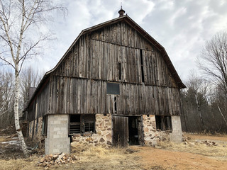 Old rustic Barn in the country side
