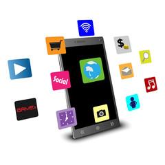 Mobile technology concepts applications 3D