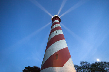 Garden Poster Lighthouse West Schouwen Lighthouse in Netherlands
