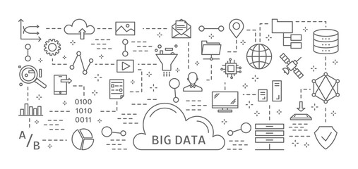 Big data icons.