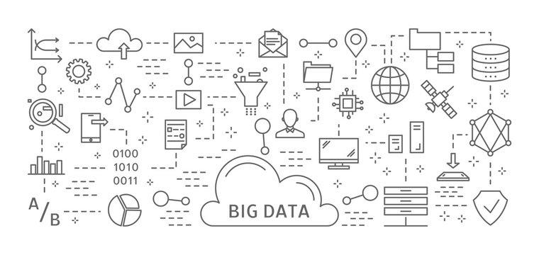 Big data icons.