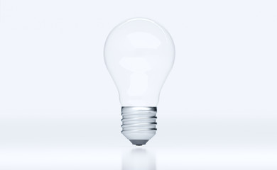 3D Rendering Of Realistic Classic Light Bulb On White Background