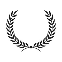 Laurel wreath. Hand drawn vector round frame for invitations, greeting cards, quotes, logos, posters and more. Vector
