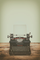 Retro styled image of an old typewriter