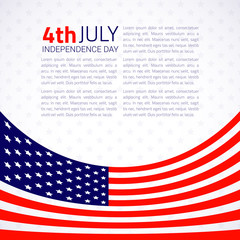 Stylish american Independence day design. Vector Illustration