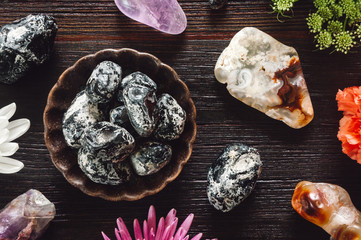 Stones of Aries with Botanicals