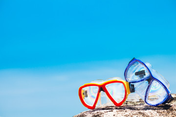 Diving Goggles at the beach