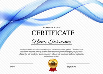 Certificate template Background. Award diploma design blank. Vector Illustration
