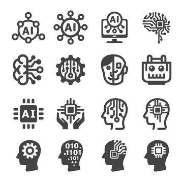 artificial intelligence,AI icon set