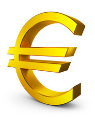 Volumetric euro sign
