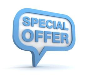 special offer concept 3d illustration