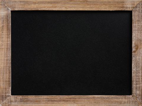 Blank vintage chalkboard with wooden frame