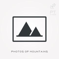 Silhouette icon photos of mountains