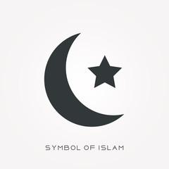 Silhouette icon symbol of islam