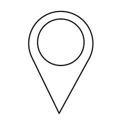 pointer map gps navigation location vector illustration outline design