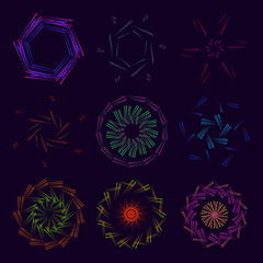 A collection of fractal ornaments using astronomical stars of all colors.