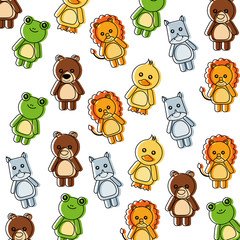 background cute toys animals baby imsge vector illustration
