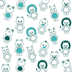 background cute toys animals baby imsge vector illustration green image