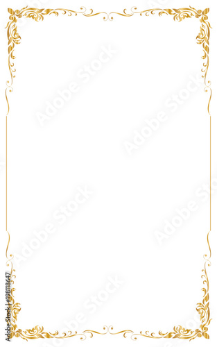Decorative Frame And Border For Design Of Birthday And Greeting Card