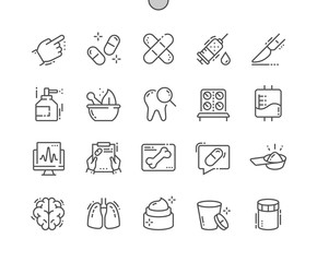 Medical Well-crafted Pixel Perfect Vector Thin Line Icons 30 2x Grid for Web Graphics and Apps. Simple Minimal Pictogram