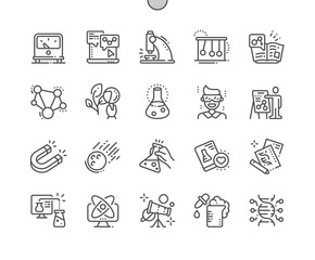 Science Well-crafted Pixel Perfect Vector Thin Line Icons 30 2x Grid for Web Graphics and Apps. Simple Minimal Pictogram