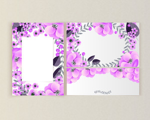 vector frame with flowers