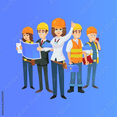 Onstruction worker team in safety helmets engineer architect with onstruction worker team in safety helmets engineer architect with blueprint builder foreman malvernweather Gallery