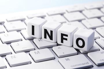 インフォメーション Information words concept