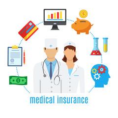 Health insurance. Healthcare, medicine.