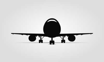 Plane silhouette front view