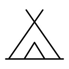 Tourist Tent Line Icon. Vector Simple Minimal 96x96 Pictogram