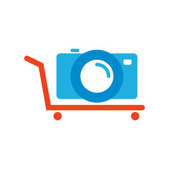 Shop Camera Logo Icon Design