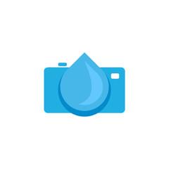 Water Camera Logo Icon Design