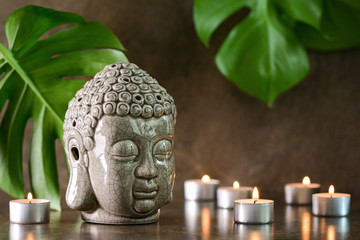 Meditation and healthy spa treatment concept