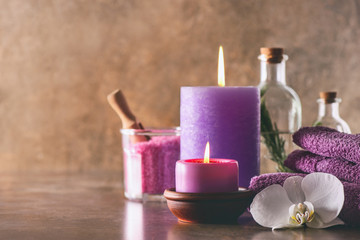 Spa natural products arrangement