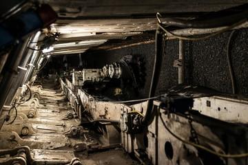 Underground heading machine in coal mine
