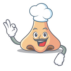 Chef nose character cartoon style