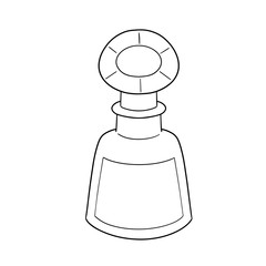 vector of perfume bottle