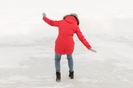 Woman slipped on ice