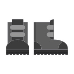 Stock for extreme winter sport. Protective boots for skiing and a snowboard.A clothes sportswear icon  skiers and snowboarders. In flat style a vector.A design concept for websites shops sports goods.