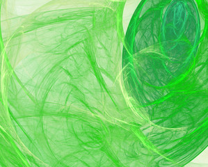 Abstract background. Fractal green veil