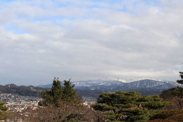 The lookout spot from Kenrokuen, one of the most beautiful gardens in Japan